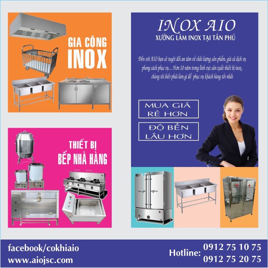 xuong inox tan phu - Chuyên kinh doanh thiết bị inox - thiết bị nhà hàng tại Tân Phú