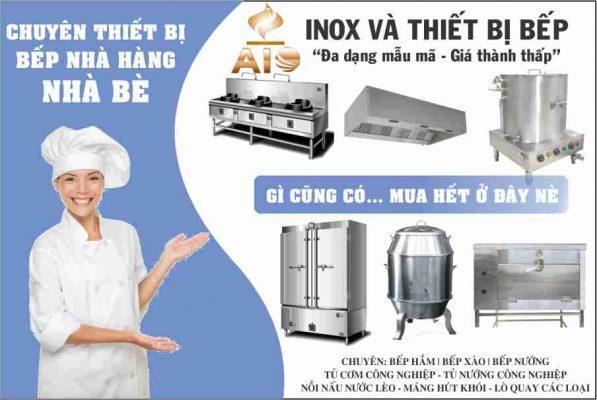 chuyen thiet bi inox bep nha hang 597x400 - Bán thiết bị nhà bếp - gia công inox giá rẻ tại Nhà Bè