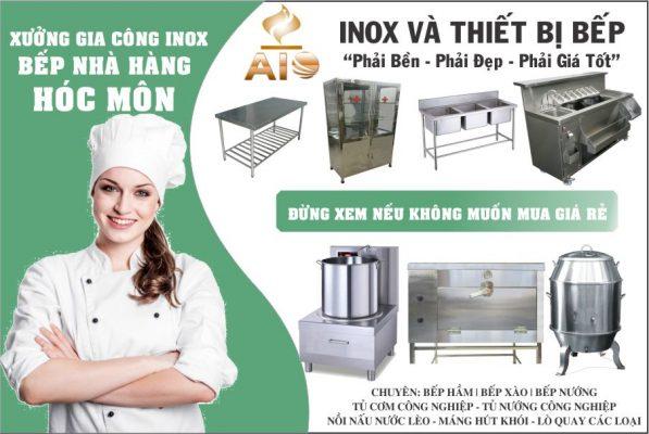 chuyen thiet bi nha hang 597x400 - Thiết kế và lắp đặt thiết bị nhà hàng, gia công inox tại Hóc Môn