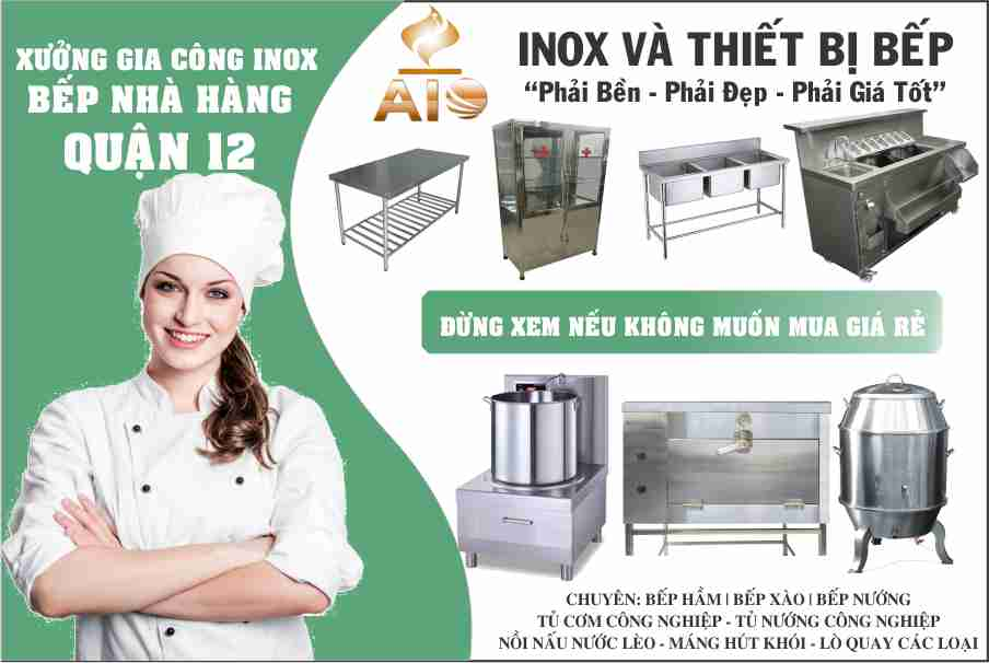 gia cong thiet bi nha hang thiet bi inox - Thiết kế nhà hàng - gia công inox giá rẻ tại Quận 12