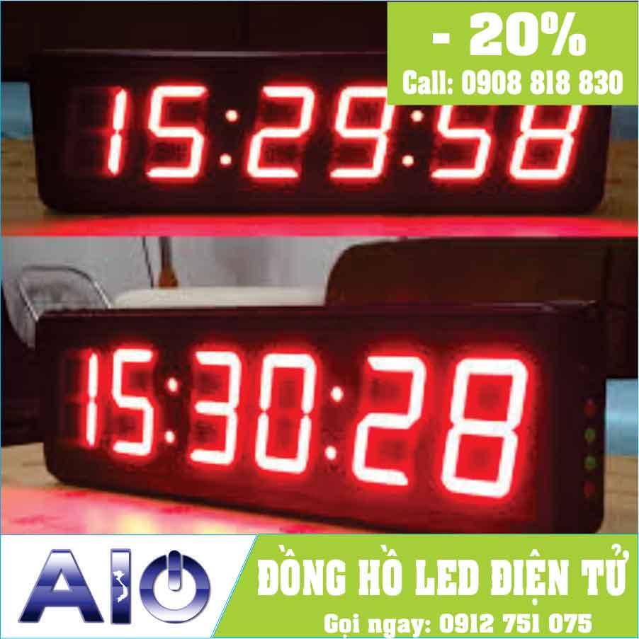 dong ho led treo tuong - Đồng hồ led điện tử treo tường