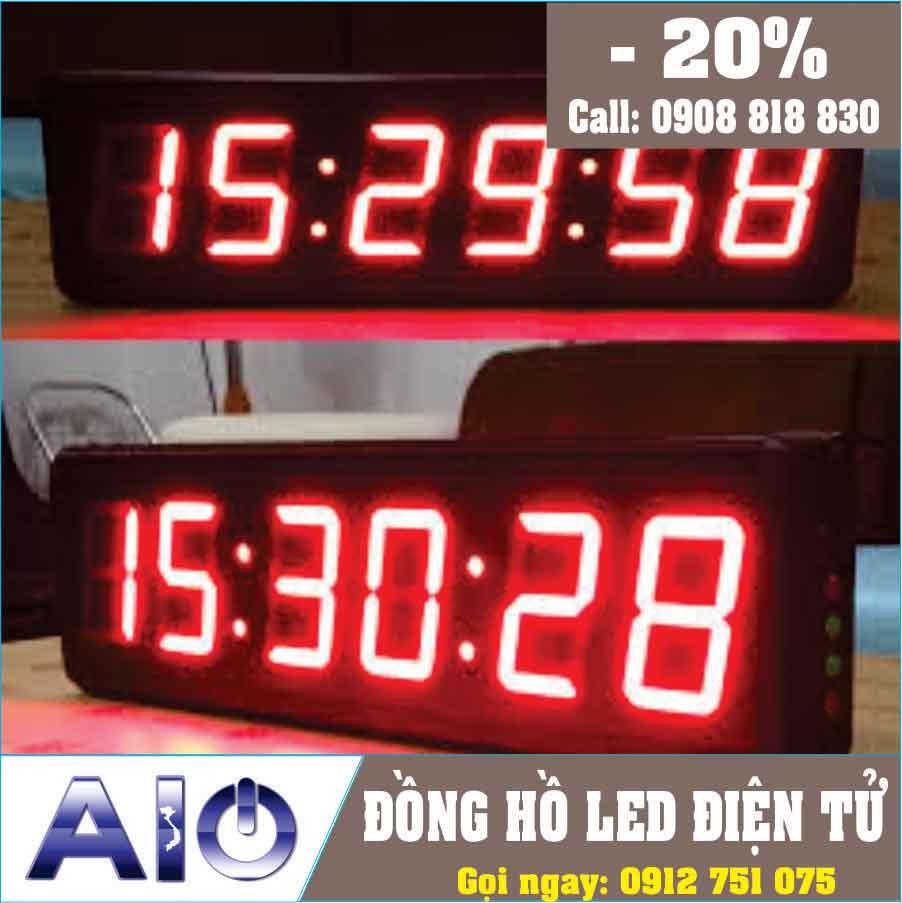 dong ho treo tuong - Đồng hồ led điện tử treo tường