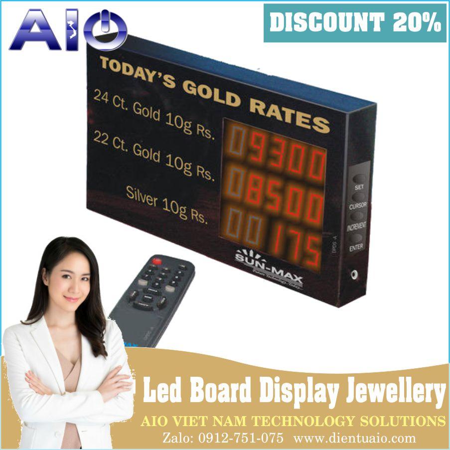 Jewellery Rate Display Board - Bảng hiển thị giá vàng led