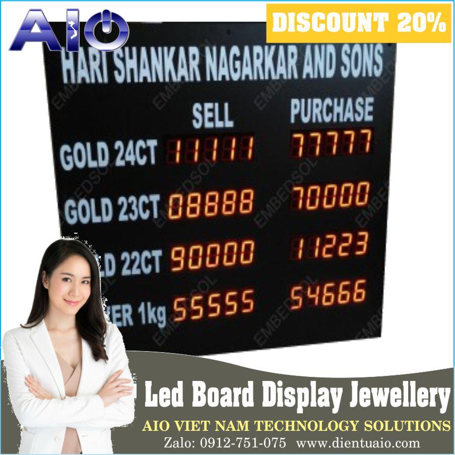 Led Board Display Jewellery  - Bảng hiển thị giá vàng led