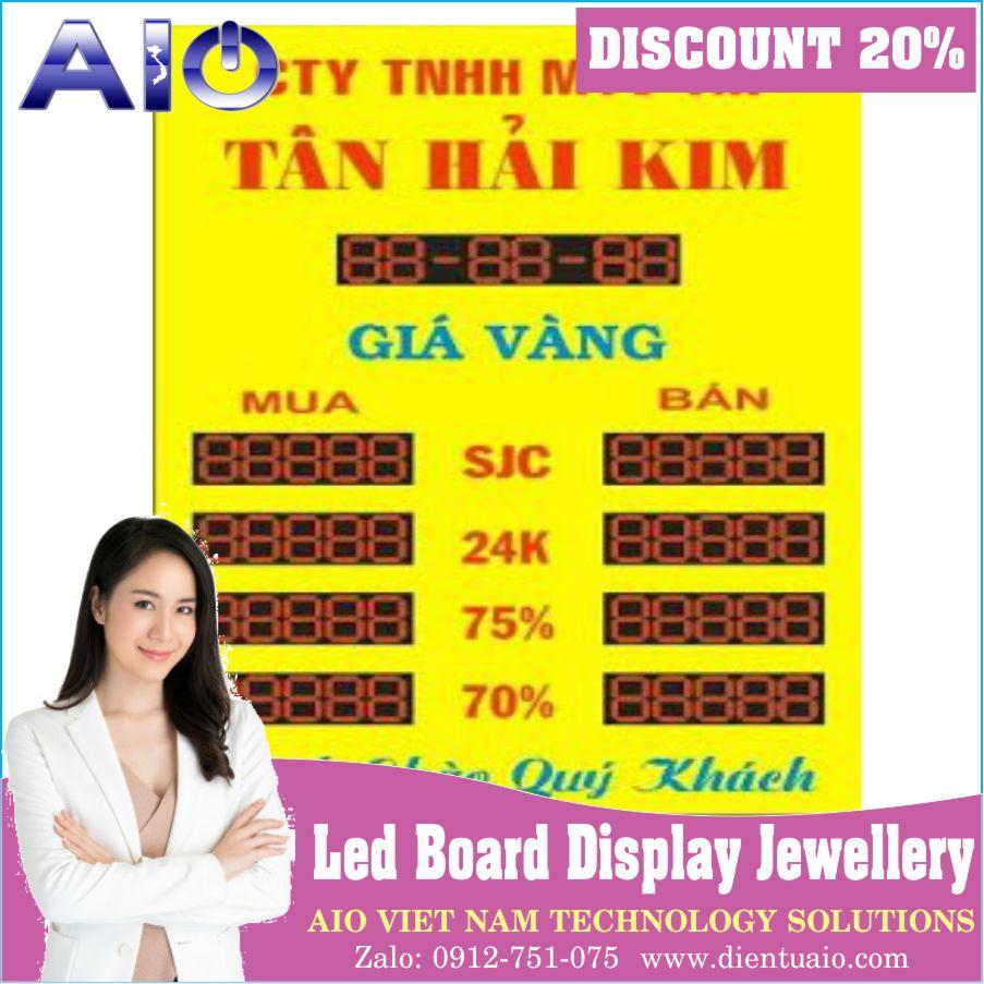 bang gia vang led p5 - Bảng hiển thị giá vàng led