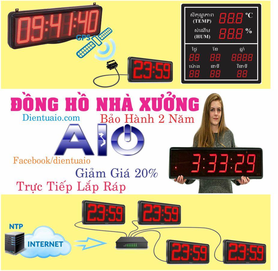 dong ho led dien tu 1 - Đồng hồ led nhà xưởng Bigsize