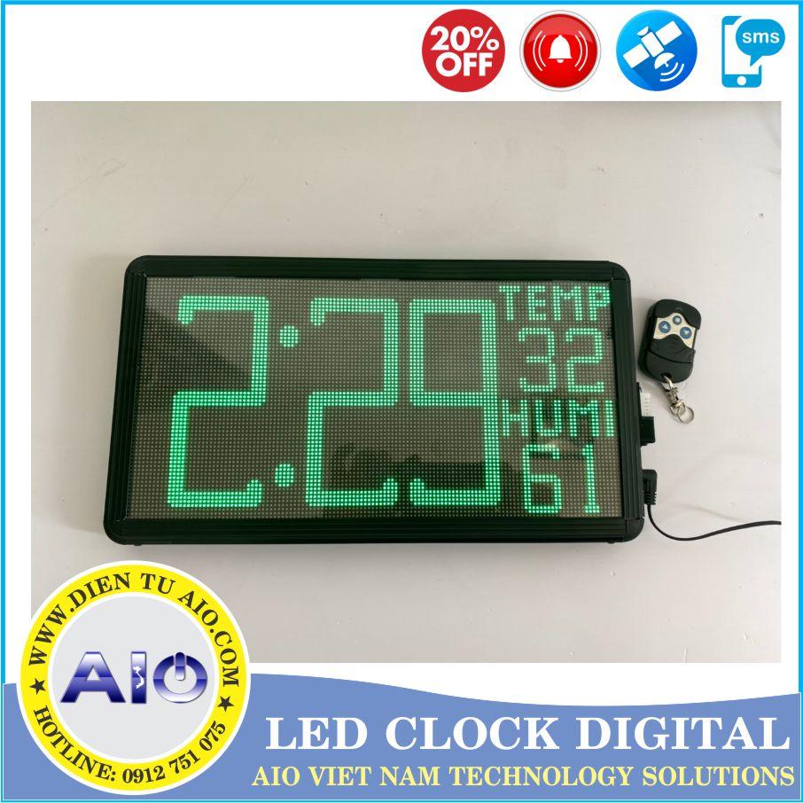 dong ho led dieu chinh giao dien 1 - Đồng hồ led điện tử dùng trong nhà xưởng