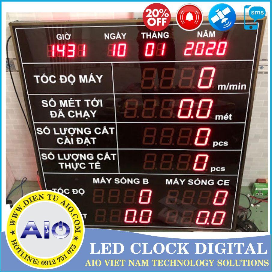 dong ho led theo doi quan ly san xuat - Đồng hồ led điện tử dùng trong nhà xưởng