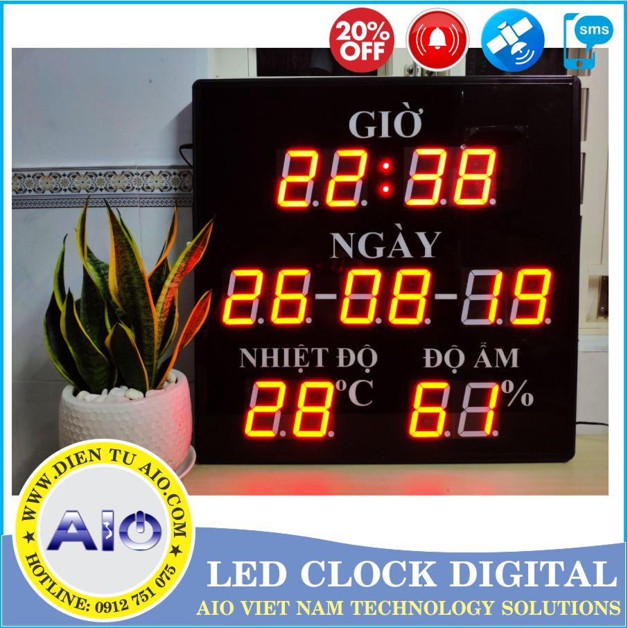 dong ho led toa nha 1 - Đồng hồ led điện tử dùng trong nhà xưởng