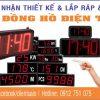 led clock display digital 100x100 - Đồng hồ led điện tử hiển thị nhiều múi giờ