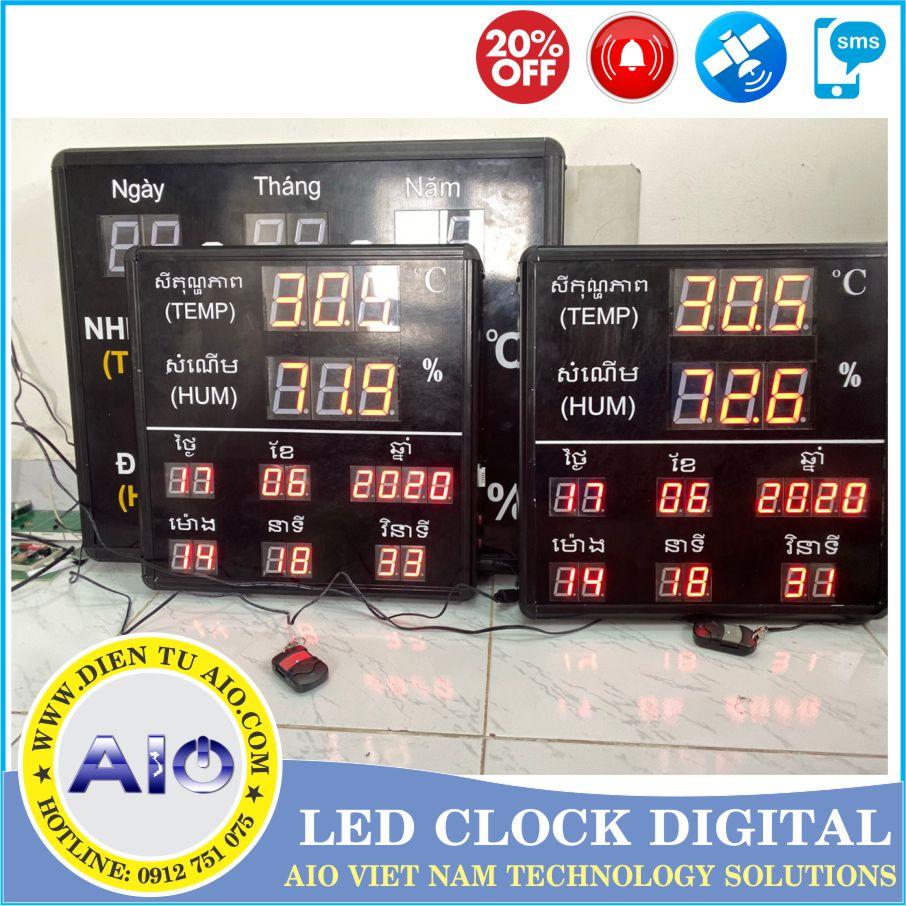 led display temperature humidity 1 - Đồng hồ led điện tử dùng trong nhà xưởng